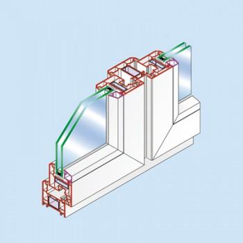 亚太 60-1内平开窗系列(PC60-1)