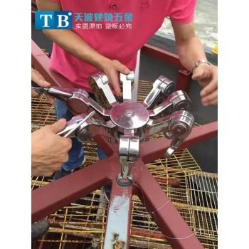 304不锈钢八脚爪 螃蟹爪 穹顶专用爪 可调节8爪 万向组合驳接爪